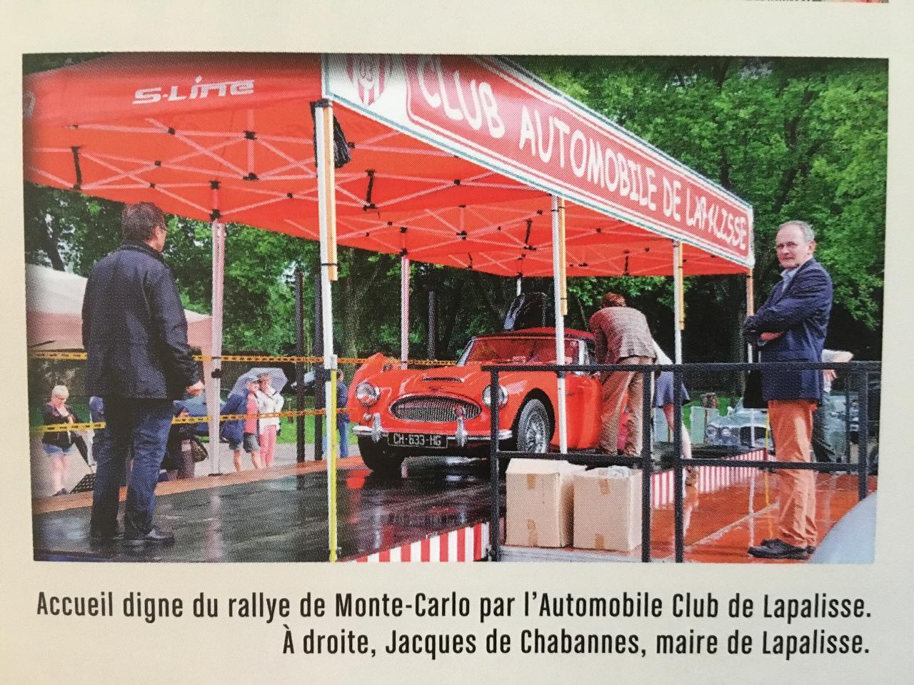 Accueil digne du Rallye de Monté Carlo par le C.A.L. JUILLET 2017