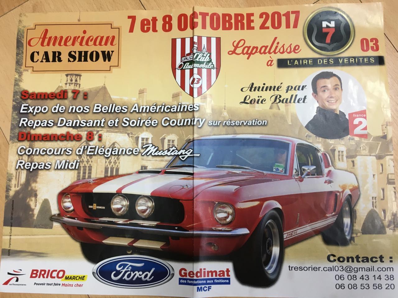 Américan Car Show en octobre 2017