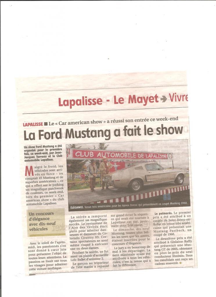 La Ford Mustang a fait son Show octobre 2017